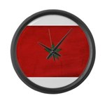 Morocco Flag Large Wall Clock
