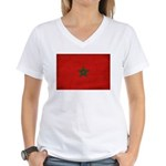 Morocco Flag Women's V-Neck T-Shirt