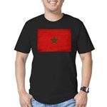 Morocco Flag Men's Fitted T-Shirt (dark)
