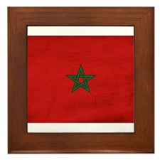 Morocco Flag Framed Tile