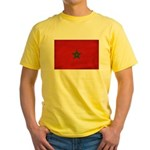 Morocco Flag Yellow T-Shirt