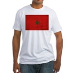 Morocco Flag Fitted T-Shirt