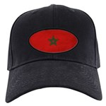 Morocco Flag Black Cap