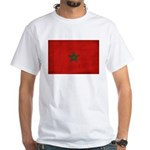 Morocco Flag White T-Shirt
