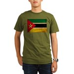 Mozambique Flag Organic Men's T-Shirt (dark)