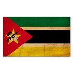Mozambique Flag Sticker (Rectangle 10 pk)