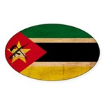 Mozambique Flag Sticker (Oval 50 pk)