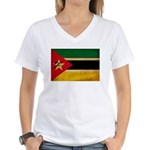 Mozambique Flag Women's V-Neck T-Shirt