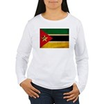 Mozambique Flag Women's Long Sleeve T-Shirt