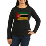 Mozambique Flag Women's Long Sleeve Dark T-Shirt