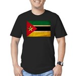 Mozambique Flag Men's Fitted T-Shirt (dark)
