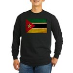 Mozambique Flag Long Sleeve Dark T-Shirt