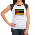 Mozambique Flag Women's Cap Sleeve T-Shirt