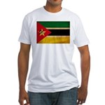 Mozambique Flag Fitted T-Shirt