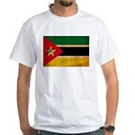 Mozambique Flag White T-Shirt