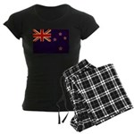 New Zealand Flag Women's Dark Pajamas