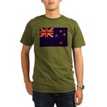 New Zealand Flag Organic Men's T-Shirt (dark)