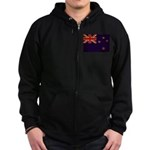 New Zealand Flag Zip Hoodie (dark)