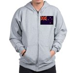 New Zealand Flag Zip Hoodie