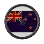 New Zealand Flag Large Wall Clock