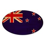 New Zealand Flag Sticker (Oval 10 pk)
