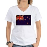 New Zealand Flag Women's V-Neck T-Shirt