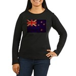 New Zealand Flag Women's Long Sleeve Dark T-Shirt