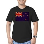 New Zealand Flag Men's Fitted T-Shirt (dark)
