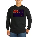 New Zealand Flag Long Sleeve Dark T-Shirt