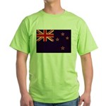 New Zealand Flag Green T-Shirt