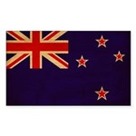 New Zealand Flag Sticker (Rectangle)