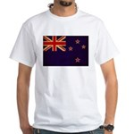 New Zealand Flag White T-Shirt