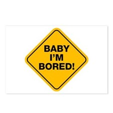 Bored baby Postcards (Package of 8)