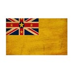 Niue Flag 38.5 x 24.5 Wall Peel