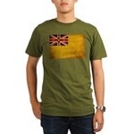 Niue Flag Organic Men's T-Shirt (dark)