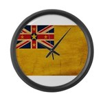 Niue Flag Large Wall Clock