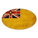 Niue Flag Sticker (Oval 10 pk)