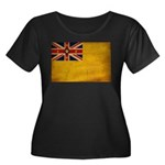 Niue Flag Women's Plus Size Scoop Neck Dark T-Shir