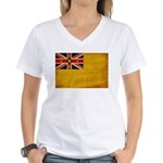 Niue Flag Women's V-Neck T-Shirt