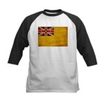 Niue Flag Kids Baseball Jersey