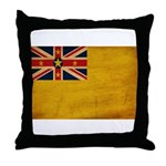 Niue Flag Throw Pillow