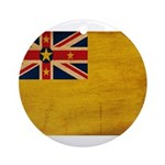Niue Flag Ornament (Round)