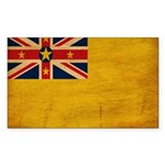 Niue Flag Sticker (Rectangle)