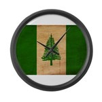 Norfolk Island Flag Large Wall Clock