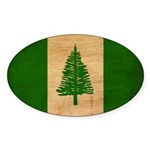 Norfolk Island Flag Sticker (Oval 10 pk)