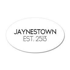 Jaynestown Est. 2513 22x14 Oval Wall Peel