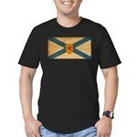 Nova Scotia Flag Men's Fitted T-Shirt (dark)