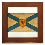 Nova Scotia Flag Framed Tile