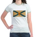 Nova Scotia Flag Jr. Ringer T-Shirt