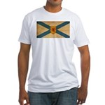 Nova Scotia Flag Fitted T-Shirt